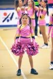 Azione Cheerleading di campionato Fotografia Stock Libera da Diritti