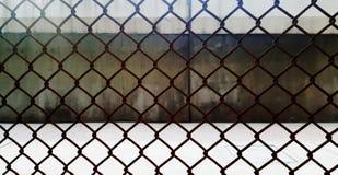 Azione d'acciaio della foto del fondo della porta e della grata Immagini Stock Libere da Diritti