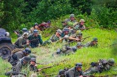 Azione del campo di battaglia Fotografia Stock Libera da Diritti
