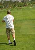Azione del club di golf Fotografie Stock Libere da Diritti