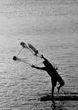 Azione del pescatore Fotografie Stock