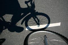 Azione della bici Fotografie Stock Libere da Diritti