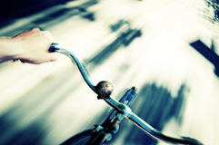 Azione della bicicletta Fotografia Stock Libera da Diritti