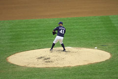 Azione della Lega Maggiore di Baseball Immagine Stock Libera da Diritti