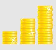 Azione della moneta Immagini Stock Libere da Diritti