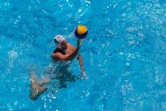 Azione della piscina di pallanuoto fotografia stock