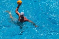 Azione della piscina di pallanuoto fotografie stock libere da diritti