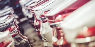 Azione delle automobili di industria automobilistica fotografia stock