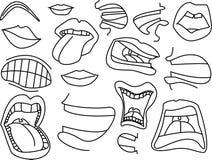 Azione delle bocche Immagine Stock