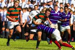 Azione Derby di rugby del banco Immagine Stock