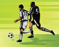 Azione di calcio illustrazione vettoriale