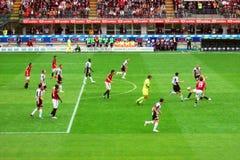 Azione di calcio Immagini Stock Libere da Diritti