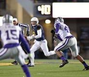 2014 azione di calcio del NCAA - stato di WVU-Kansas Fotografia Stock
