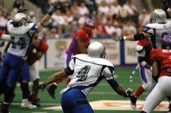 Azione di football americano Fotografia Stock