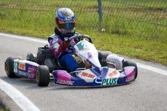 Azione di Karting Fotografia Stock