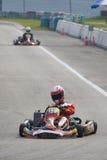Azione di Karting Fotografie Stock Libere da Diritti
