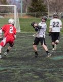 Azione di lacrosse in Redding Fotografia Stock Libera da Diritti