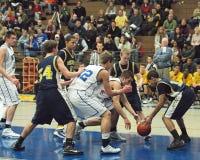 Azione di pallacanestro Fotografia Stock
