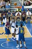 Azione di pallacanestro Fotografia Stock Libera da Diritti