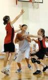 Azione di pallacanestro Immagini Stock