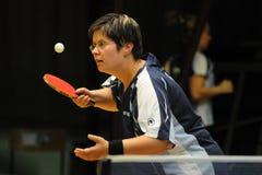 Azione di ping-pong fotografia stock