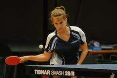 Azione di ping-pong Fotografie Stock