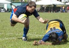 Azione di rugby Fotografie Stock Libere da Diritti