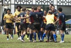 Azione di rugby Immagine Stock Libera da Diritti