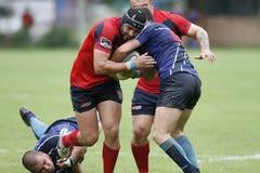 Azione di rugby Fotografia Stock Libera da Diritti