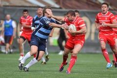 Azione di rugby Fotografia Stock