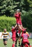 Azione di rugby Immagini Stock
