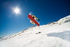 Azione di snowboard fotografia stock libera da diritti