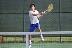 Azione di tennis Fotografie Stock