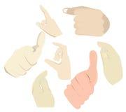 Azione di tocco di 043 mani Royalty Illustrazione gratis