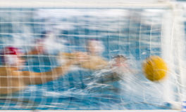 Azione di Waterpolo Fotografia Stock