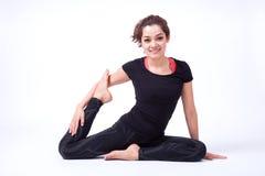 Azione di yoga Immagine Stock