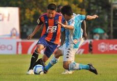 Azione in League prima tailandese Fotografie Stock
