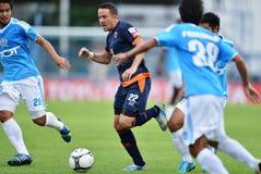 Azione nella Premier League tailandese Fotografie Stock