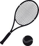 Azione per tennis Immagini Stock Libere da Diritti