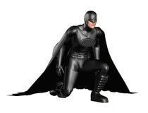 Azione scura del supereroe Fotografie Stock Libere da Diritti