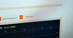 Azione sul monitor del pc Analisi dei dati nel web browser video d archivio