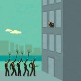 Azionisti arrabbiati royalty illustrazione gratis