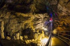 Azishskaya grotta Kaukasus Royaltyfri Fotografi