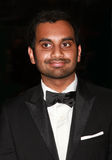 Aziz Ansari. Comedian/actor Aziz Ansari who appears in NBC-TV's sitcomParks and Recreation arrives on the red carpet for Time's 100 Most Influential People gala Stock Photo