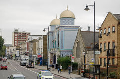 Aziziye-Moschee, Mietpferd, London Lizenzfreies Stockfoto