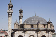 Aziziye mosque. Date of the overall image of the mosque Aziziye, konya Royalty Free Stock Photography