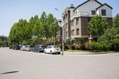 Azja chińczyk, Pekin, Europejska architektura, wierzchołek piękny wiosny townï ¼ Œ Obraz Royalty Free