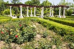 Azja chińczyk, Pekin, Europejska architektura, wierzchołek piękny wiosny townï ¼ ŒPavilion Zdjęcie Stock