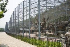 Azja chińczyk, Pekin, Północny pałac, lasu park, Krajobrazowa architektura, zwierzęta, klatki stwarza ognisko domowe Zdjęcie Stock