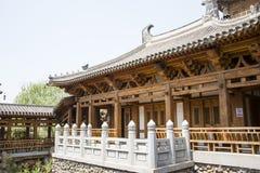 Azja chińczyk, Pekin, Yu ogród, Klasyczna ogrodowa architektura, Zdjęcia Stock